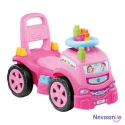 Pink Truck & Blocks Ride-On...