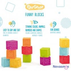 Sensory cubes set of 8 pieces