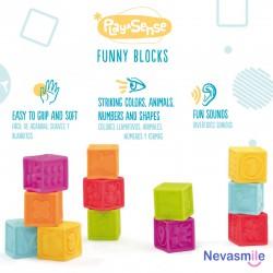 Set van 8 zintuiglijke blokjes
