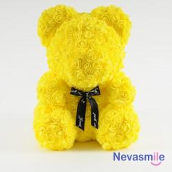 Gele teddybeer met rozen -...