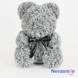 Grey teddybear with foam...