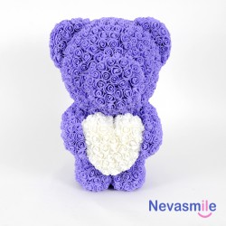 Purple teddybear with foam...