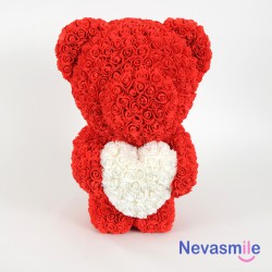 Red teddybear with foam...