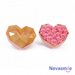 Heart shaped pink giftbox...