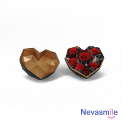 Heart shaped black giftbox...
