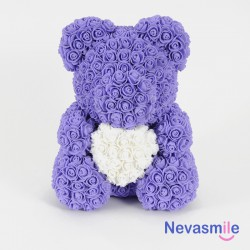 Purple teddybear with white...