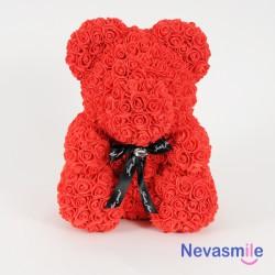 Ours en roses rouge - avec...