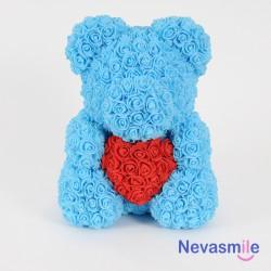 Lightblauwe teddybeer met...