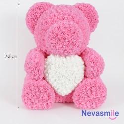 Pink teddybear with foam...