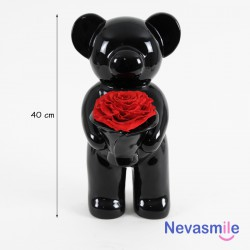 Standing molded bear black...