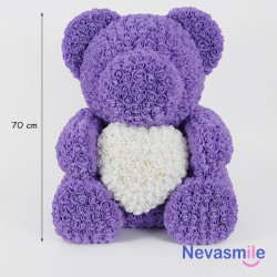 Purple teddybear with white...